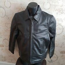 """Schott cowhide black leather jacket coat xl 44"""" Bnwt new mens man's male"""