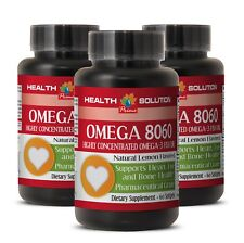 anti inflammatory diet plan - OMEGA 8060 - omega 3 research verified - 3 Bottles