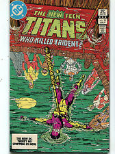 The New Teen Titans #33 NM Who Killed Trident  DC Comics CBX1N