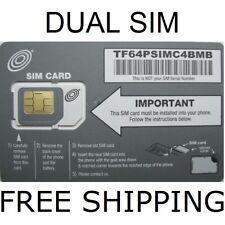 Net10 Dual Micro Mini Sim Card Unlimited Talk-Text-Data $40 Mo. At&T Network