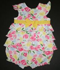 New Gymboree Outlet Bubble Summer One Piece Floral Romper Size 0-3 Months NWT
