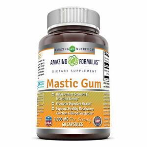 Amazing Formulas Mastic Gum 1000mg Per Serving 60 Capsules -(Non GMO,Gluten F...