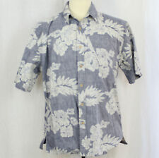 Cooke Street Honolulu 100% Cotton Hawaiian Floral Camp Aloha Shirt Men Sz L EUC
