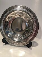 """Bowl Dish By International Silver Company Rare #148 8"""" Lace & Embossed BEAUTIFUL"""