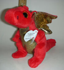 "LEGEND THE DRAGON TY beanie Babies Baby sparkle eyes regular 6"" size NWT"