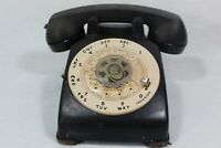 Vintage Bell System Western Electric CD500 Black Rotary Desk Phone White dial
