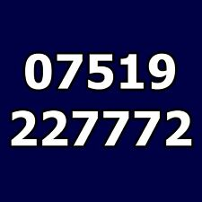 07519 227772 - O2 Gold Mobile Phone Number Easy Simple 777 Business SIM Card