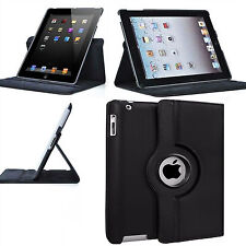 New Leather 360 Rotating Smart Stand Case Cover For APPLE iPad 2/3/4