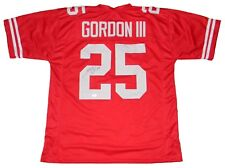 MELVIN GORDON AUTOGRAPHED SIGNED WISCONSIN BADGERS #25 RED JERSEY JSA