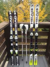 Head Junior SL Race 138 Ski Head GS 152 Race Ski With Bindings Swix Poles Lot