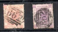 Hong Kong QV 1863 30c SG#15 & #16 fine used WS14730