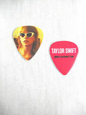 NEW TAYLOR SWIFT PRINTED GUITAR PICK COLOR PHOTO WHITE SUNGLASSES RED TOUR 2013