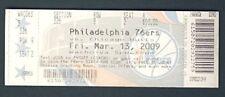 Philadelphia 76ers FULL UNUSED Ticket 3-13-09 LAST EVER game at The SPECTRUM 955