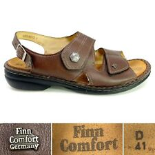 Finn Comfort Milos EU 41 D US 10 - 10.5 Brown Leather Strappy Comfort Sandals
