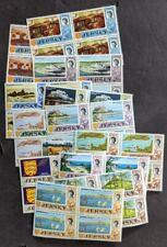 EDW1949SELL : JERSEY 1969 Scott #7-20 w/o #21 Blocks of 4. VF, Mint NH. Cat $200