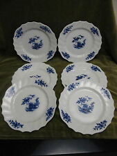6 Assiettes porcelaine tournai décor Ronda (Belgian porcelain tournai 6 plates)