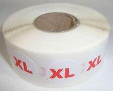 """1000 """" Xl """" Size Self-Adhesive Labels 3/4"""" Stickers / Tags Retail Store Supplies"""