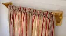 Curtain Rod Brackets - 1 pair - Log Cabin Decor - Rustic Window Treatment