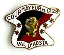 Spilla Courmayeur m. 1228 Valle D'Aosta (A.E. Lorioli Milano) cm 3,3 x 2,7