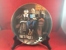 NEW Knowles Plate Rockwell's Light Campaign Evening's Ease COA Collector Plate