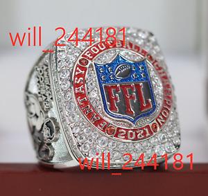 Premium Series 2021 Fantasy Football League Champion FFL Winner Ring 7-16 size