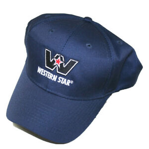 Western Star semi trucker hat ball cap truck summer mesh back snap Navy Blue
