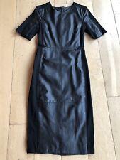 urbancode - Black Leather - Bodycon Dress - Size 8 VGC