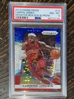 POP 2!🔥2013 LeBron James PANINI PRIZM RED WHITE BLUE PULSAR REFRACTOR #19 PSA 8