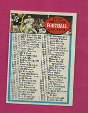 1972 TOPPS # 79 UNMARKED CHECKLIST NRMT+ CARD (INV#0535)