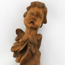 Antique Hand Carved Mexican Angel Santos