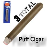 3 FAKE PUFF CIGAR Smoke Powder Magic Trick Joke Gag Prop Smoking Prank Toy