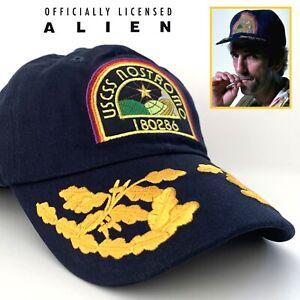 Official Alien USCSS NOSTROMO Patch Cap Hat Harry Dean Stanton Aliens Cosplay