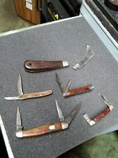 LOT OF VINTAGE KNIVES FOR REPAIR/CUTLERY CAMILLUS/COLONIAL/ETC.