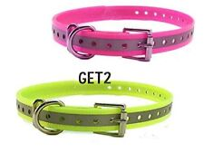 """Sparky PetCo 3/4"""" Reflective Pink & Yellow Roller Buckle High Flex Dog Strap"""