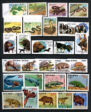 J Fauna L30 Vietnam Poland 4sets 27v Prehistoric Animals Dinosaurs Reptiles Dogs