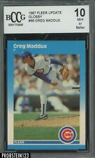 1987 Fleer Update Glossy #68 Greg Maddux Chicago Cubs RC Rookie BCCG 10