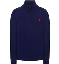 Polo Ralph Lauren Navy Blue 1/4 Zip Sweater Boys Youth Medium M 12/14 EUC