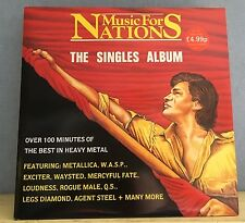 MUSIC FOR NATIONS The Singles Album UK Vinyl LP exciter waysted Metallica Tank