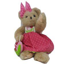 "Bearington Bears ""Becca Blooming"" 14 Inch Plush Bear Spring Easter Bear"
