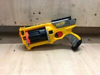 Nerf N Strike Maverick REV 6 Toy Gun Blaster Foam Dart Shooter Yellow Free Ammo