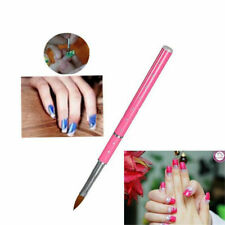 Tool Supply For Nail Art Acrylic Pink Brush Metal Handle With Rhinestone 8# Hot