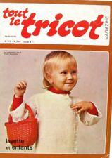 Revue de mode Catalogue de tricot - Tout le Tricot n°112 - 1976 - Layette enfant