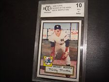 2006 Topps Baseball Mickey Mantle 1952 NY Yankees Rookie of the Week Mint BCCG10
