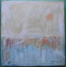Original Expressionist Landscape Oil Painting by Jane Murray : Hot Summer Haze
