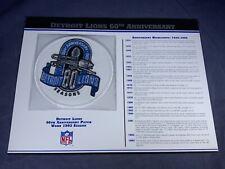 F5-85 NFL PATCH - DETROIT LIONS 60th ANNIVERSARY - 1993