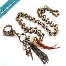 Korean Style Fashion Jewelry Funk Gold Plated Skull Jean Wallet Chain C2225 US
