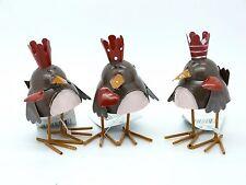 Gisela Graham Set di 3 TIN irresoluto uccelli con corone Matrimonio San Valentino per torta