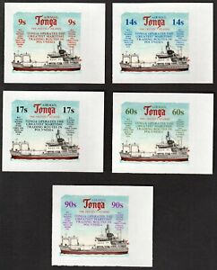 TONGA 1974 FREEFORM STAMPS: MARINE INSTITUTE TRADING ROUTES (AIRMAILS)