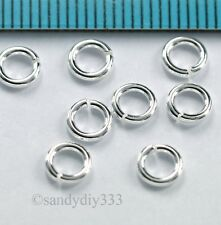 20x BRIGHT STERLING SILVER OPEN ROUND JUMP RING 5mm 18GA 1mm #2899
