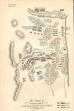 GUERRA D'INDIPENDENZA SPAGNOLA Mappa/piano di battaglia BATTAGLIA ~ British Francese & ESERCITI SPAGNOLI 1809